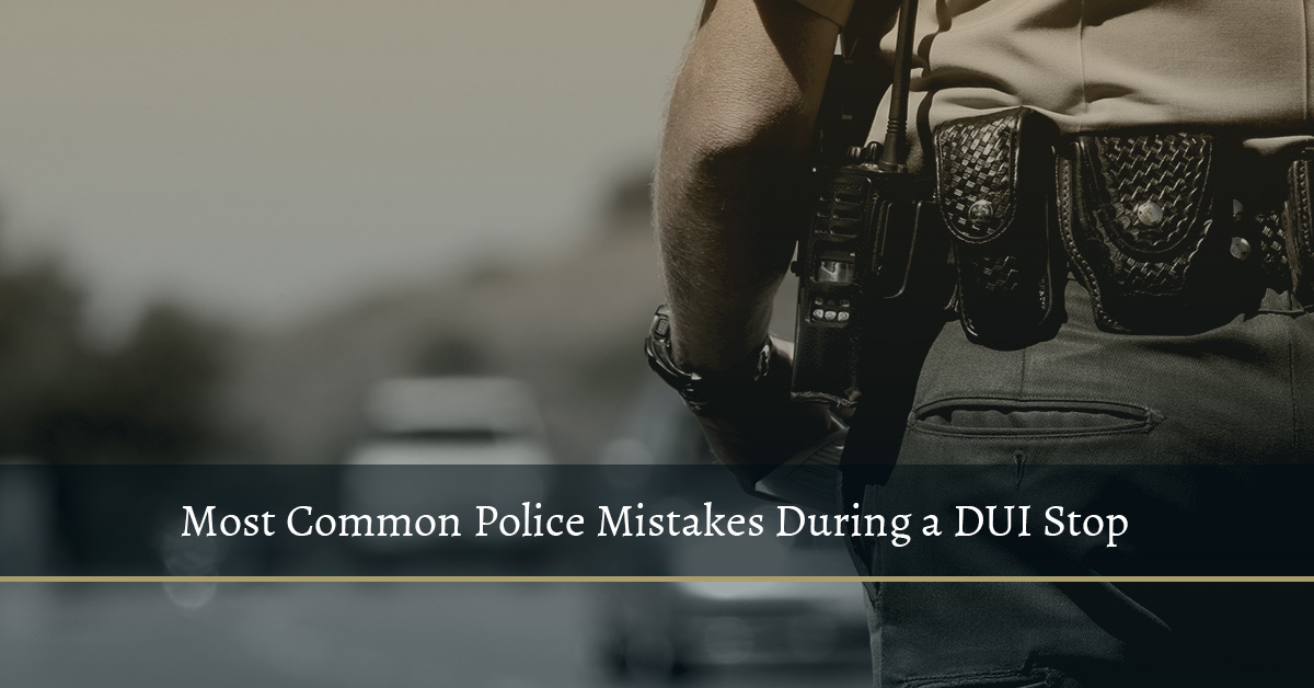 DUI police report mistakes