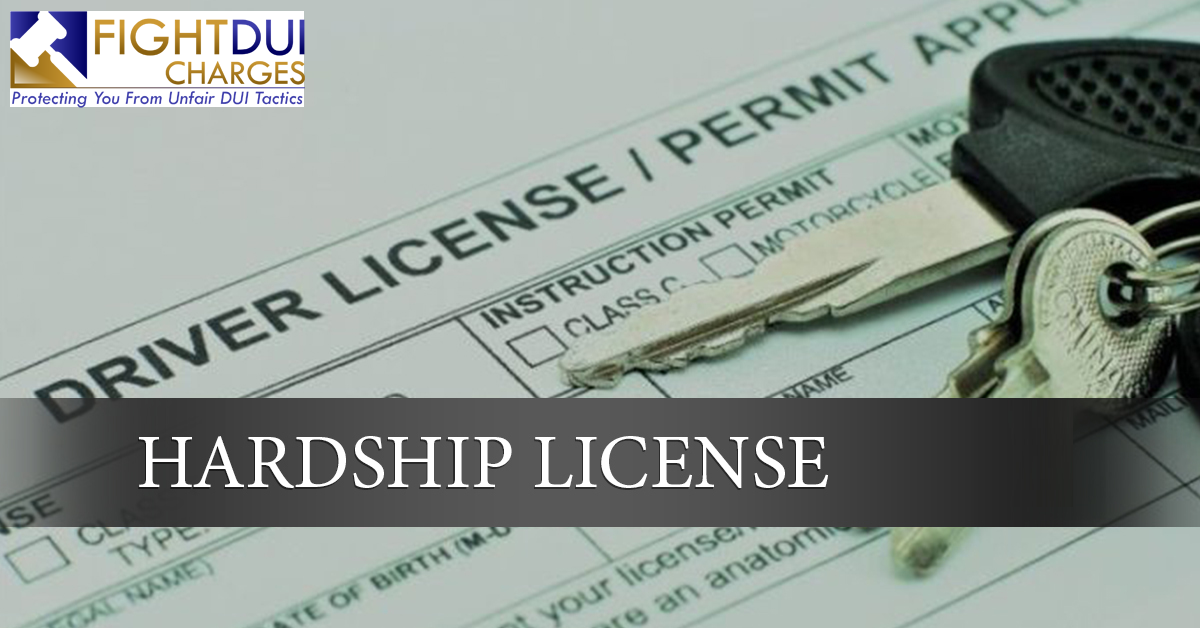 Hardship License Cost  Dui